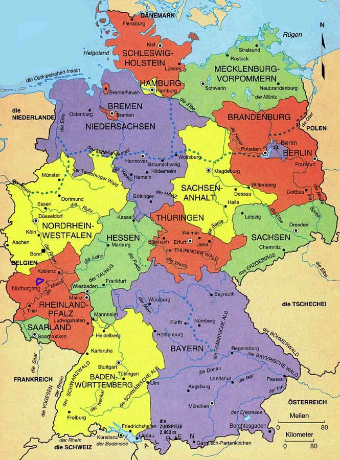Sovereign Ancestry UK Research In Germany - Germany uk map