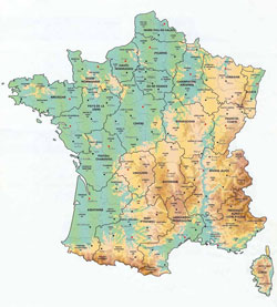Large Map of France